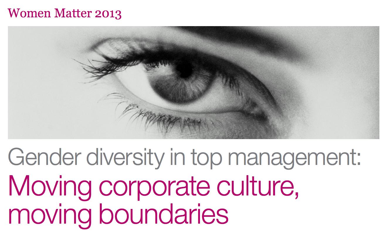 McKinsey's Women Matter 2013