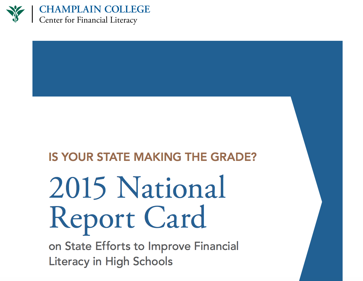 Making the Grade: 2015 National Report Card on State of Financial Literacy