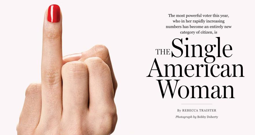 American woman single