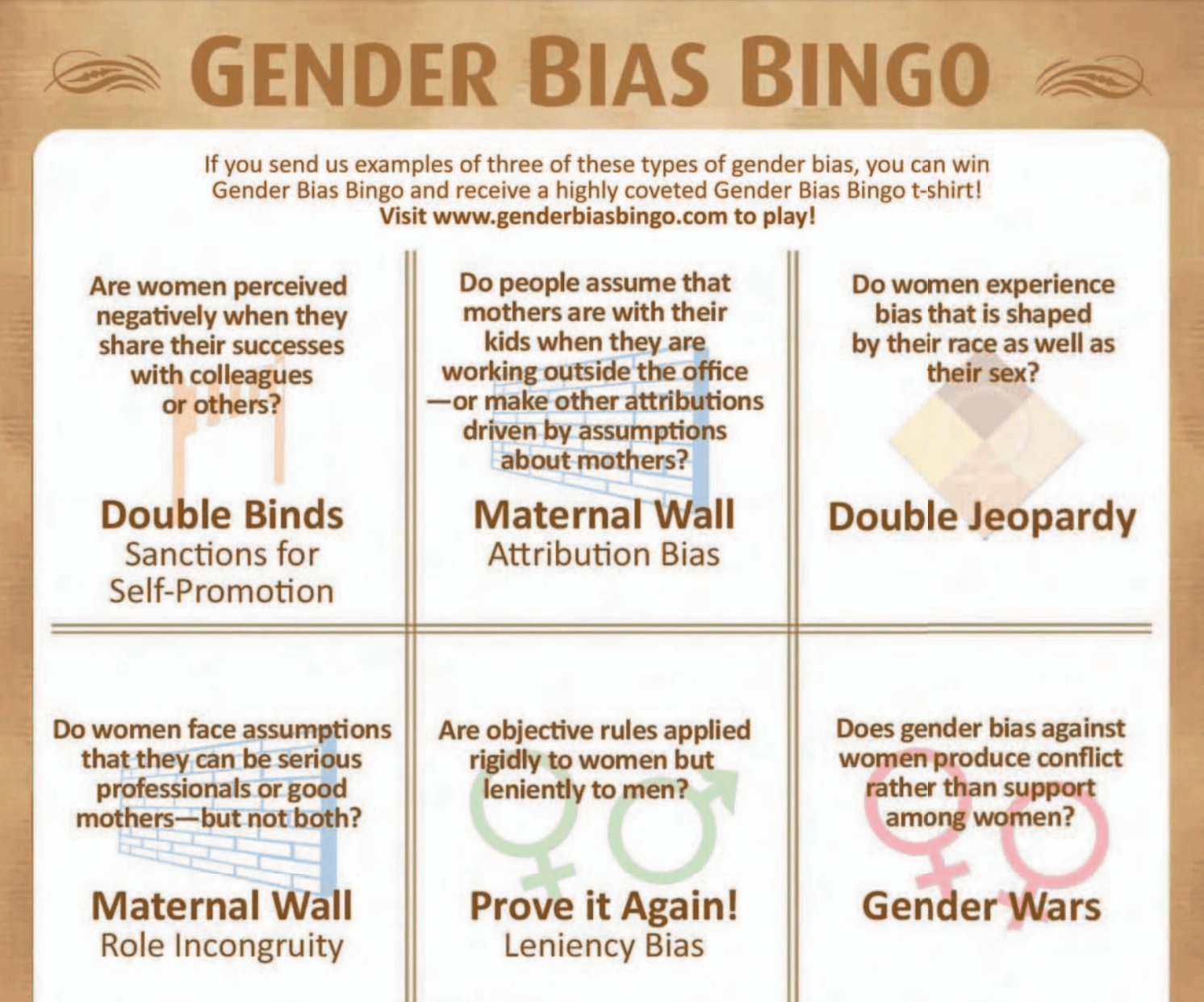 Gender Bias Bingo