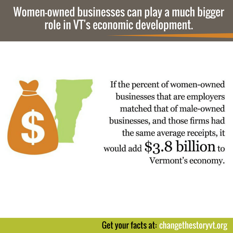 Women-owned businesses can play a much bigger role in VT's economic development.