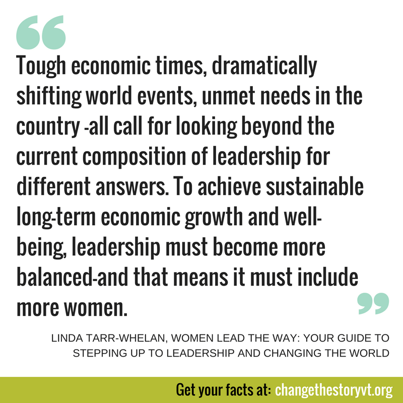 Tough economic times, dramatically shifting world events, unmet needs in the country —all call for looking beyond the current composition of leadership for different answers. To achieve sustainable long-term economic growth and well-being, leadership must become more balanced—and that means it must include more women.