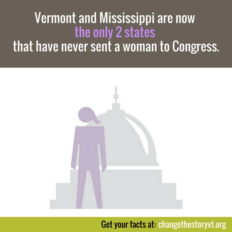 Vermont and Mississippi are now the only 2 states that have never sent a woman to Congress.